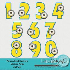 Number clipart minion DPI Inspired Numbers Clipart 300