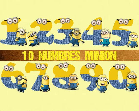 Number clipart minion Disney Despicable Minions Me Clipart
