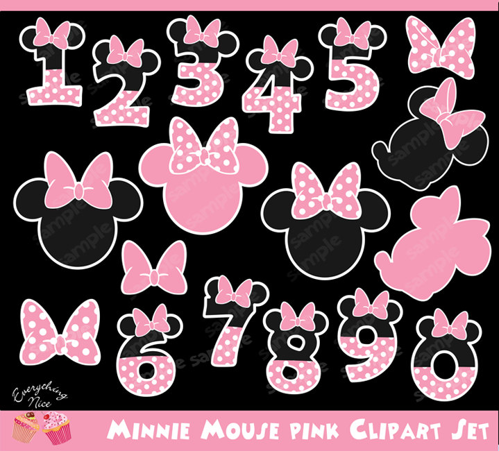 Number clipart minnie mouse Studio a 1EverythingNice Minnie from