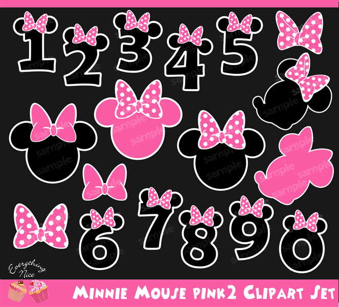 Number clipart minnie mouse Pink2 Minnie Pink2 Set Clipart