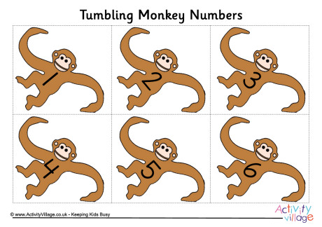 Number clipart monkey Number Monkey  Posters