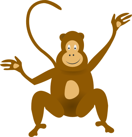 Number clipart monkey Monkey Monkey Images Art Clipart