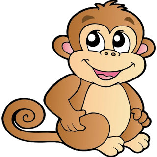 Number clipart monkey Art shower free para baby
