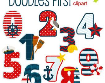 Number clipart nautical Numbers Cupcake Scrapbooking Art numbers