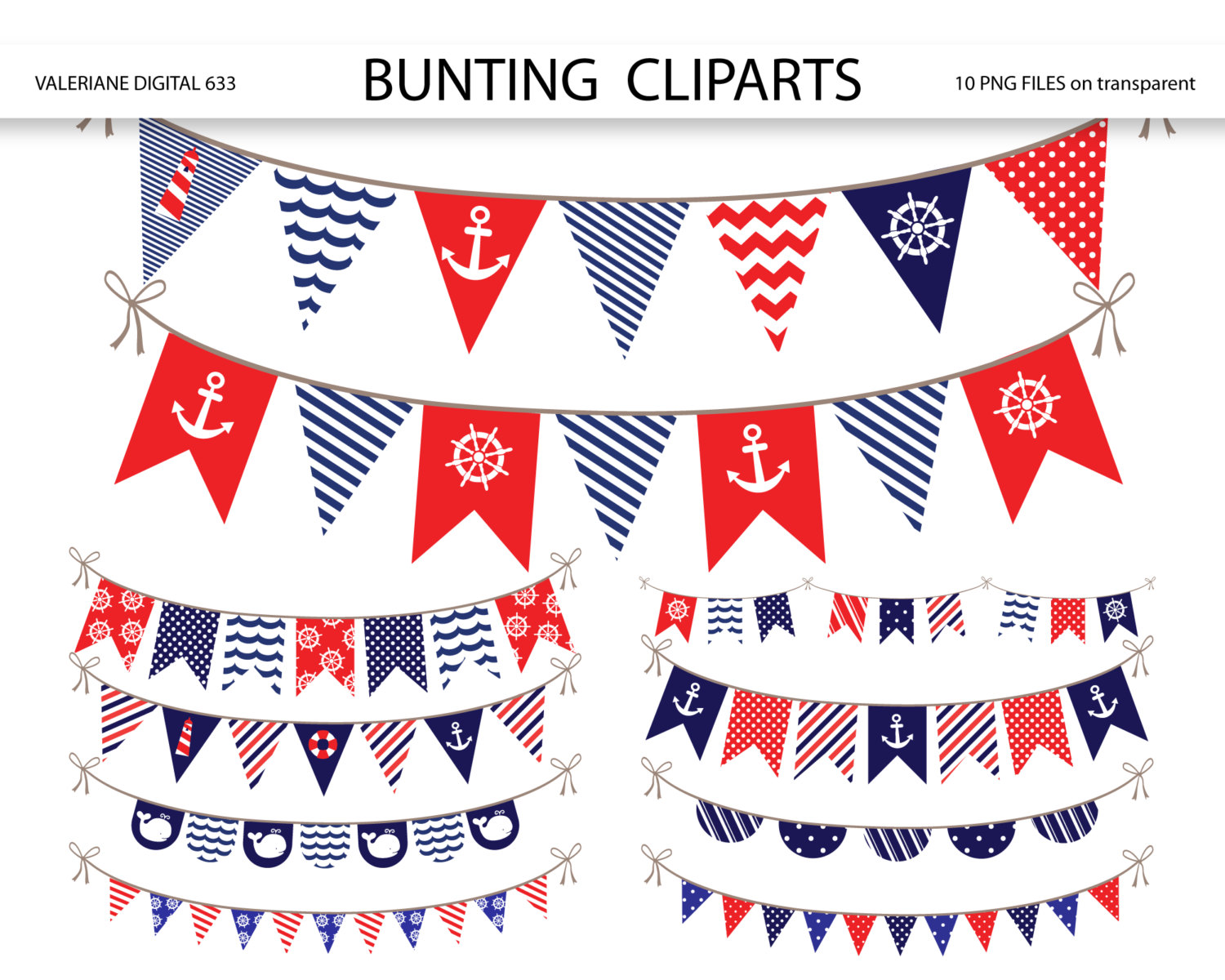 Number clipart nautical Bunting art bunting nautical clip