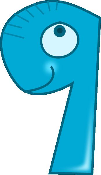 Number clipart nine Clip Animal Clip art image