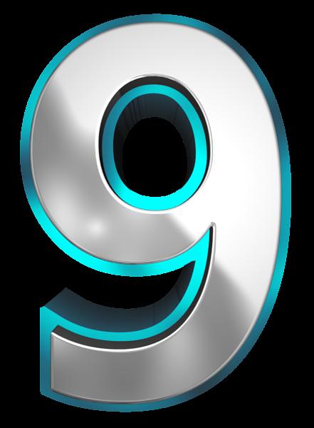 Number clipart nine PNG Nine Image Clipart 3