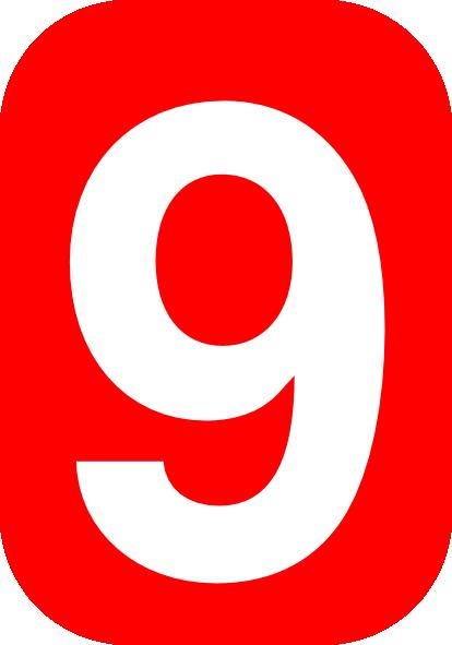 Number clipart nine Online royalty Clip Clker free