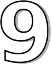 Number clipart nine Number Nine Clipart Number Nine