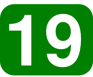 Number clipart nineteen With at Clip Rounded Green