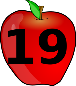 Number clipart nineteen Vector Clip Apple Counting at