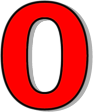 Number clipart number 0 Numbers 0 41 Number Red