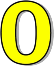 Number clipart number 0 Outlined 0 Number Yellow Clip