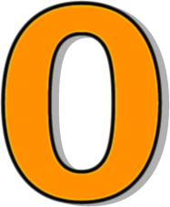 Number clipart number 0 Outlined 3 0 Page Number