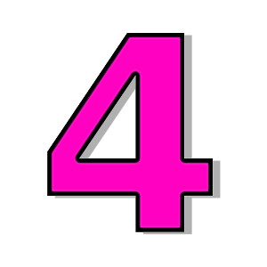 Number clipart number four Download – Clipart number clipart