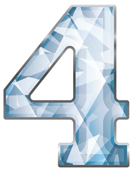 Number clipart number four Four Yopriceville Crystal Number Crystal