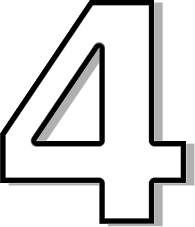 Number clipart number four Clipart Four Outline Download Number