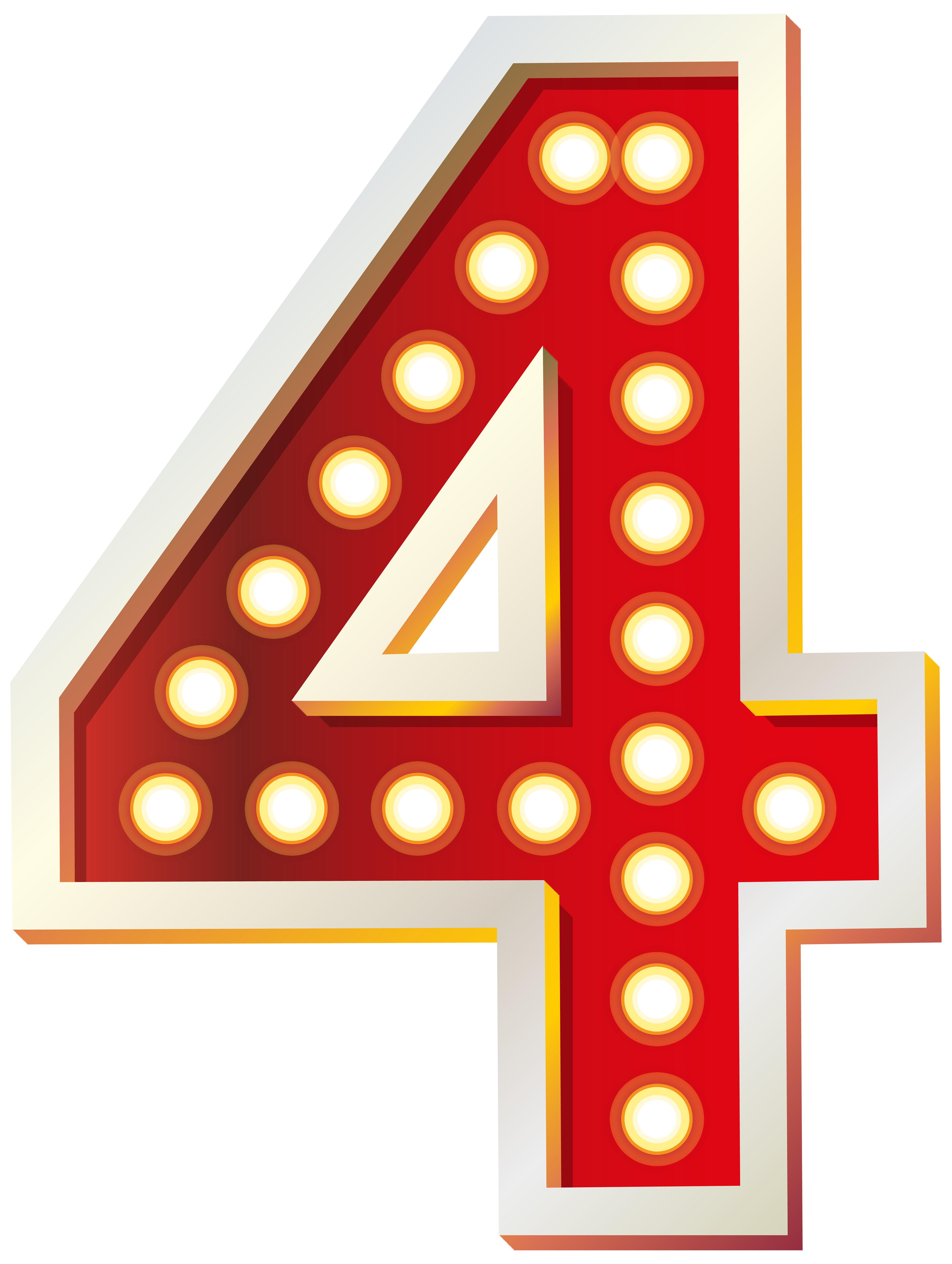 Number clipart number four PNG  with Lights View