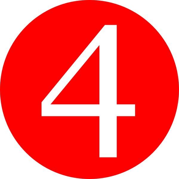 Number clipart number four Clipart on Number Art at