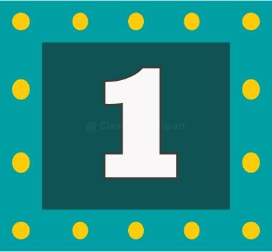 Number clipart number one Large Clip Number Number Download