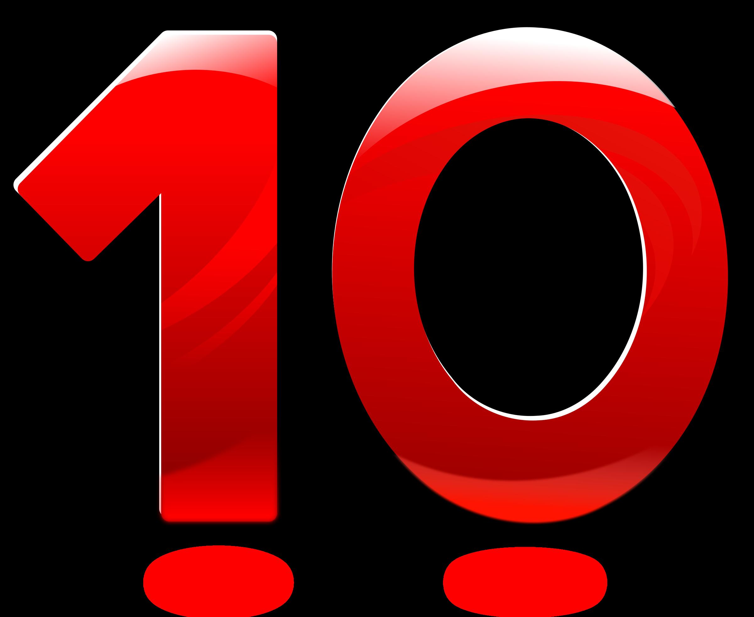 Number clipart number ten Number Glossy Ten Number Ten