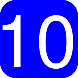 Square clipart ten Art Number Number 10 With
