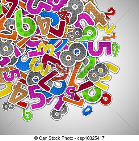 Number clipart number wallpaper With  colorful colorful Background