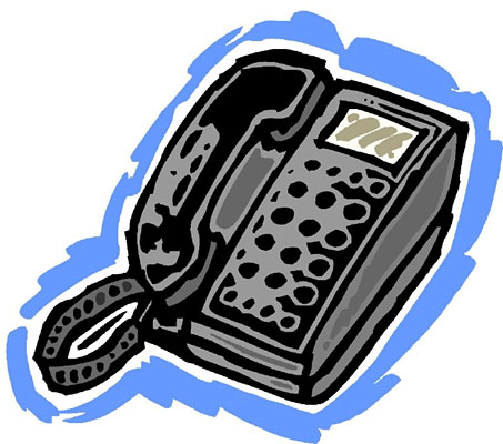 Telephone clipart phone number #6