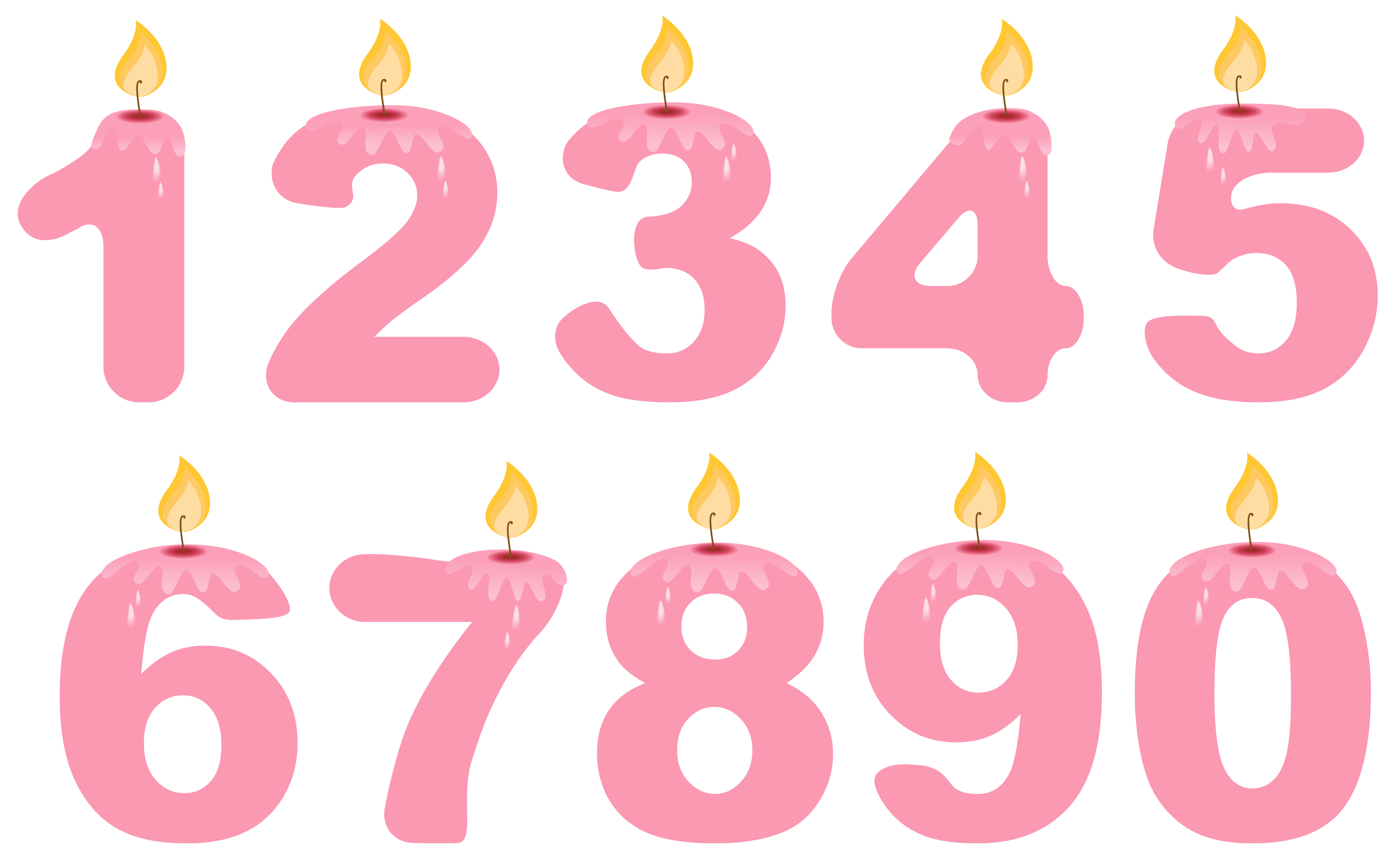 Number clipart pink PNG Birthday Transparent  Numbers