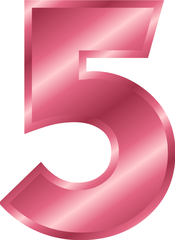 Number clipart pink Art Free on 5 Art