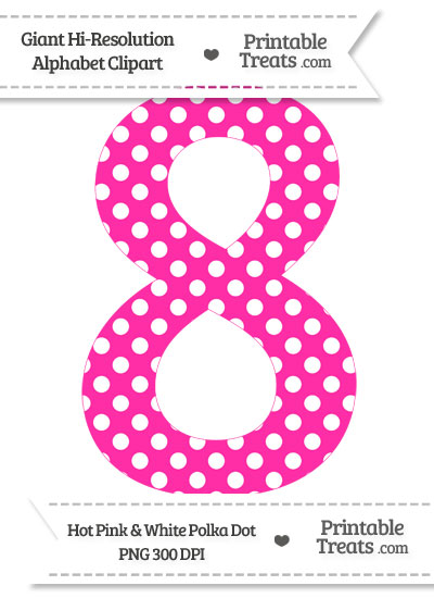 Number clipart polka dot number 400x550 Pink 8 Clipart