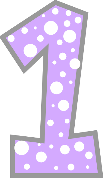 Number clipart polka dot number Clip Grey image as: Art