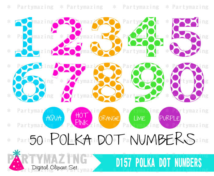 Number clipart polka dot number From Set  a different