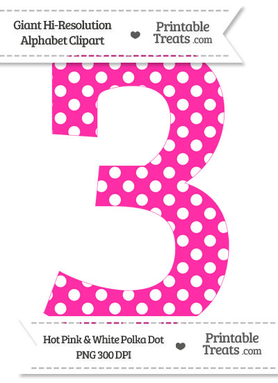 Number clipart polka dot number 3 Free Clipart Clipart Clip