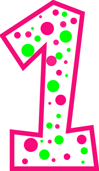 Number clipart polka dot number As: at And Number Clker