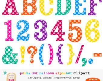 Number clipart polka dot number Alphabet Alphabet Clipart Clipart Download