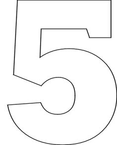Number clipart printable Set Stencils printable Printable stencils