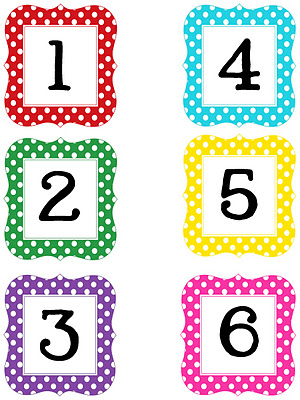 Number clipart printable Just I I a and