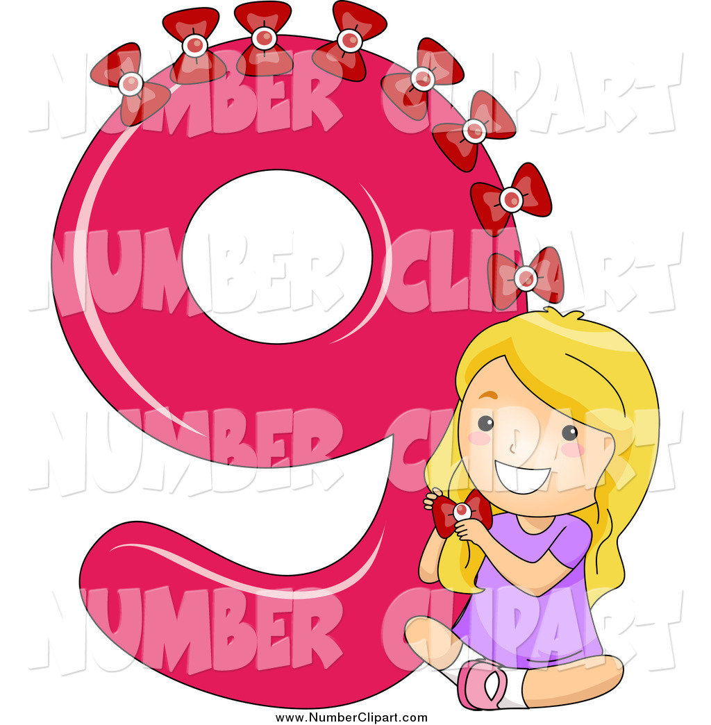 Number clipart school Girl on Bows White Designs