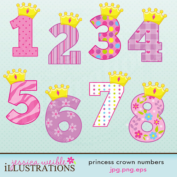 Number clipart scrapbook Digital for Clipart Numbers Digital