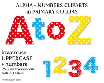 Number clipart scrapbook 294 clipart Clip alphabet Polka
