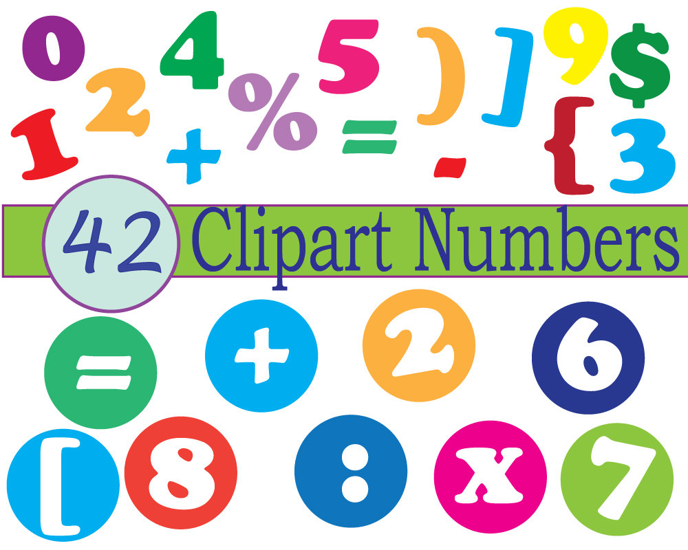 Number clipart scrapbook Pictures art numbers Clipartix download
