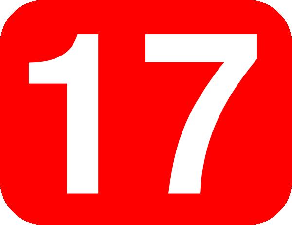 Number clipart seventeen #2