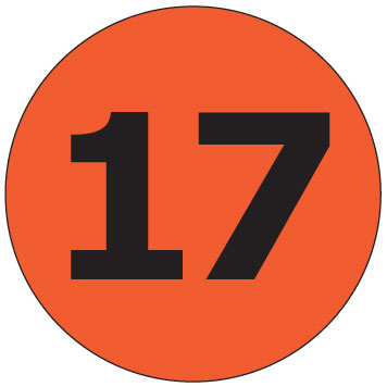 Number clipart seventeen #3
