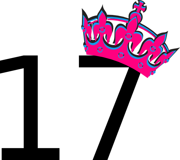 Number clipart seventeen Tiara Clipart Number 17 And