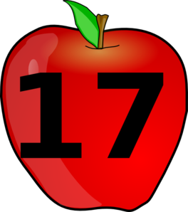 Number clipart seventeen #1