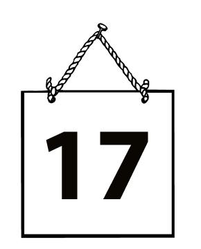 Number clipart seventeen #8