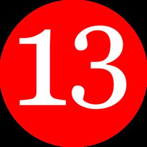 Number clipart thirteen Download Thirteen Clipart Clipart Thirteen