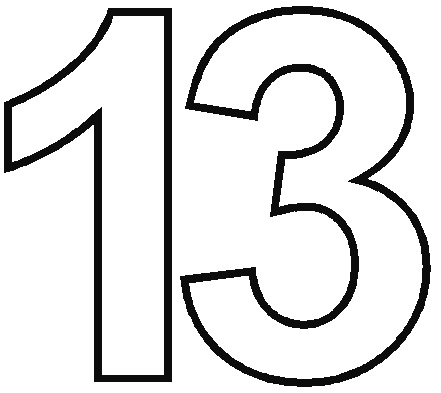 Number clipart thirteen Number Cliparts Clip Download Clipart
