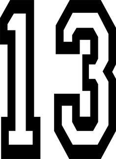 Number clipart thirteen 13 NUMBER 13  Luck